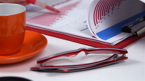 Revisor Calculates Earning stock video
