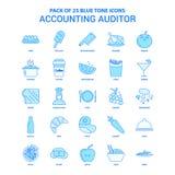 Revisore dei conti di stima Blue Tone Icon Pack - 25 insiemi dell'icona royalty illustrazione gratis