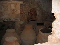 Revista de polvo en Arkadi Monastery Crete Greece fotos de archivo