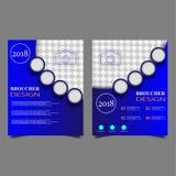 Revista del papel con membrete del folleto del prospecto del diseño de página de la cubierta de libro de informe anual de la plan imágenes de archivo libres de regalías