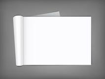 Revista en blanco con las páginas rodadas Fotos de archivo libres de regalías