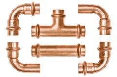 Revista los tubos del tubo con cobre Foto de archivo
