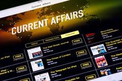 Revistas comerciales en iPad Imagen de archivo libre de regalías