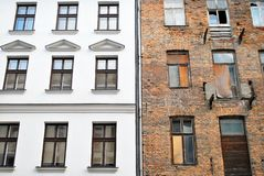 The revitalization and reuse of older buildings. Whether for a similar function or a new one, promotes compact development patterns that aid the protection of Stock Photography
