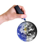 Revitalizing planet earth Royalty Free Stock Photo