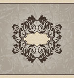 Revival ornamental card or invitation. Illustration revival ornamental card or invitation - vector royalty free illustration