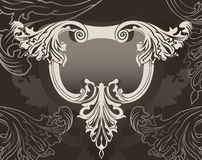 Revival ornate frame background Royalty Free Stock Photo