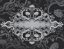 Revival ornate frame background Stock Photos