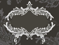 Revival ornate frame stencil Stock Photography