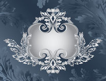 Revival ornate frame stencil Stock Photo