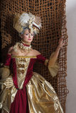 Revival women. History of fashion design - rococo, baroque style Stock Photography