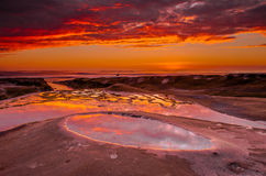 Revive. Afterglow at La Jolla Reefs in San Diego Stock Images