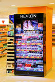 Revlon cosmetics products. On display for sale at a supermarket in hong kong stock image