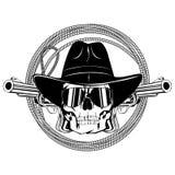 Revólveres var 2 del lazo del vaquero Imagen de archivo libre de regalías