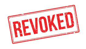 Revoked rubber stamp. On white. Print, impress overprint Royalty Free Stock Image