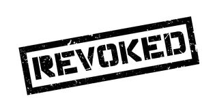 Revoked rubber stamp. On white. Print, impress overprint Stock Images