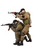 Revoltörer med AK 47 Royaltyfri Fotografi