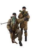 Revoltörer med maskingeväret för AK 47 och RPD- Royaltyfri Fotografi