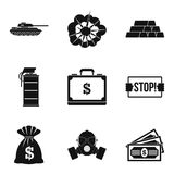 Revolt icons set, simple style. Revolt icons set. Simple set of 9 revolt vector icons for web isolated on white background Stock Image