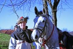A revolta a dos camponeses d 1573 , reenactment da batalha final, 23, Stubica, Croácia, 2016 fotos de stock royalty free