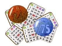 Revoltijo de la tarjeta del bingo Imagen de archivo libre de regalías