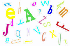 Revoltijo del alfabeto imagenes de archivo