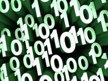 Revoltijo verde de los números binarios Fotografía de archivo libre de regalías