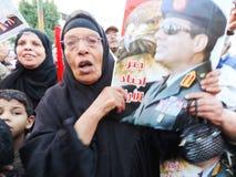 Revolução do egípcio da parte egípcia do cristão e dos muçulmanos Fotografia de Stock Royalty Free