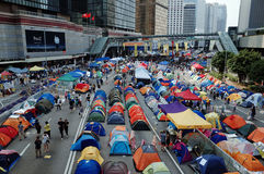 Revolução 2014 do guarda-chuva de Hong Kong Imagem de Stock