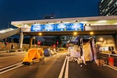 Revolução do guarda-chuva em Hong Kong 2014 Imagens de Stock