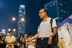 Revolução do guarda-chuva em Hong Kong 2014 Fotografia de Stock
