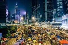 Revolução do guarda-chuva em Hong Kong 2014 Imagem de Stock Royalty Free