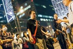 Revolução do guarda-chuva em Hong Kong 2014 Fotos de Stock Royalty Free