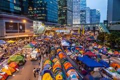 Revolução do guarda-chuva em Hong Kong 2014 Imagens de Stock Royalty Free