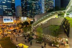 Revolução do guarda-chuva em Hong Kong 2014 Foto de Stock Royalty Free