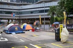 Revolução do guarda-chuva, Hong Kong Fotografia de Stock