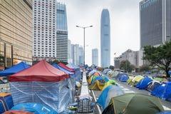 Revolução do guarda-chuva, Hong Kong Imagem de Stock