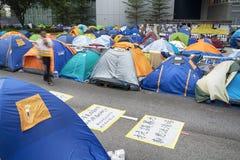 Revolução do guarda-chuva, Hong Kong Foto de Stock Royalty Free