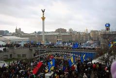 Revolução em Ucrânia Fotos de Stock Royalty Free