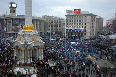 Revolução em Ucrânia Imagem de Stock Royalty Free