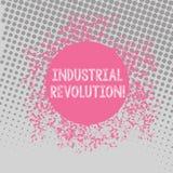 Revolução Industrial da exibição do sinal do texto Tempo conceptual da foto durante que trabalho feito mais por máquinas des ilustração stock