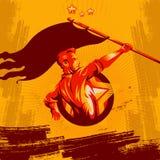 Revolução que levanta a revolução do cartaz da bandeira ilustração royalty free