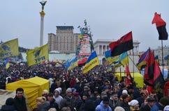 Revolução ucraniana, Euromaidan. Fotografia de Stock