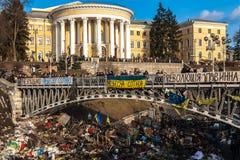 Revolução ucraniana, Euromaidan após um ataque pelo governo f Fotos de Stock