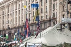 Revolución de la dignidad - Euromaidan Kiev, Ucrania Fotos de archivo libres de regalías