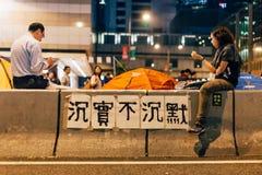 Revolución del paraguas en Hong Kong 2014 Fotos de archivo libres de regalías