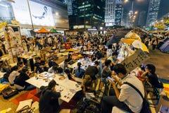 Revolución del paraguas en Hong Kong 2014 Imagen de archivo