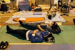 Revolución del paraguas en Hong Kong 2014 Imágenes de archivo libres de regalías