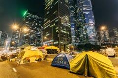 Revolución del paraguas en Hong Kong 2014 Imagen de archivo libre de regalías