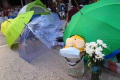 Revolución del paraguas en Mong Kok Foto de archivo